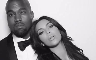 Kim and Kanye West via ig