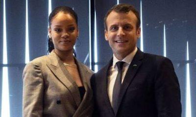 Rihanna and Macron