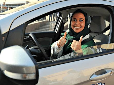 Saudi Arabia: Women celebrate the lifting of driving ban.